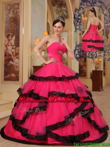 2020 Beautiful Ball Gown Strapless Beading Quinceanera Dresses
