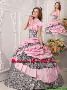 New Style Ball Gown Strapless Quinceanera Gowns in Multi Color
