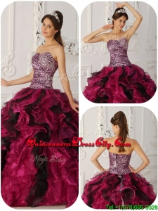 New Style Sweetheart Ruffles Quinceanera Dresses in Multi Color