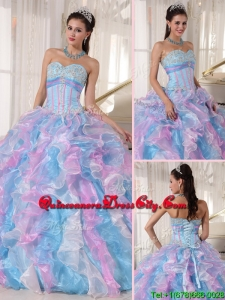 New Style Sweetheart Ruffles and Appliques Quinceanera Dresses
