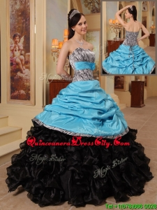 Top seller Quinceanera Gowns with Ruffles and Pick Ups