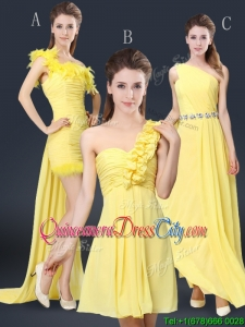 Pretty Floor Length Dama Dresses with Belt