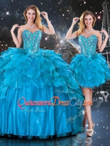 New Arrivals Detachable Sweetheart Quinceanera Skirts with Beading