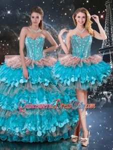 2020 Luxurious Detachable Sweetheart Ruffled Layers Quinceanera Skirts