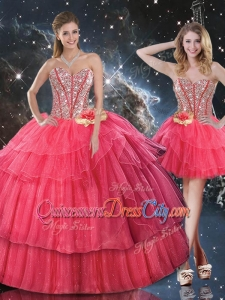 Lovely Sweetheart Detachable Quinceanera Skirts with Beading for Fall