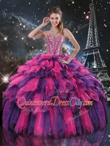 Luxurious Detachable Quinceanera Skirts with Beading and Ruffled Layers