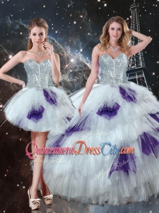 Luxurious Sweetheart Detachable Quinceanera Skirts with Ruffled Layers for 2020