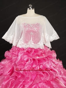 Lace Scoop Beading Organza Shawls for Spring