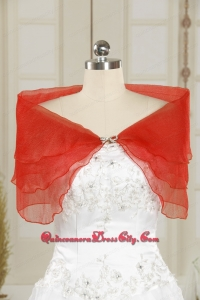 2021 New Style Beading Coral Red Shawls