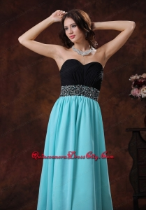 2021 Inexpensive Black and Blue Mother Dress with Beading