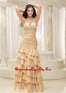 Ruffled Layers and Bodice Sweetheart Floor-length For Remarkable Mother Dress