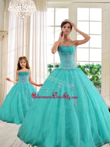 2021 Classical Turquoise Princesita With Quinceanera Dresses with Beading