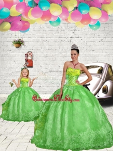 Fashionable Green Princesita Dress with Beading and Embroidery for 2022
