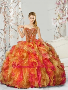 New Style Beading and Ruffles Multi-color Quinceanera Dresses for 2022