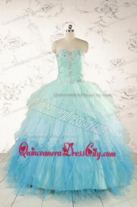 Fashionable Multi-color Quinceanera Dresses with Beading and Ruffles