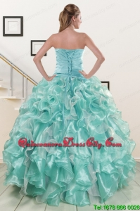 Top seller Beading Sweet 16 Dresses in Apple Green for 2022