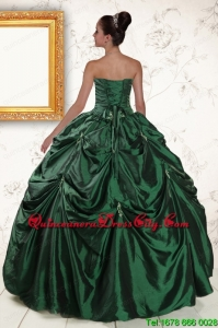 2021 Brand New Style Appliques Quinceanera Dresses in Dark Green