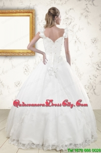 2021 Discount Straps Quinceanera Dresses with Appliques and Beading