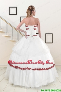2021 Sweetheart Ball Gown Quinceanera Dresses with Appliques