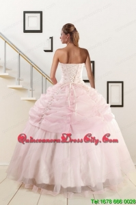 Pretty Strapless Quinceanera Dresses with Beading and Pick Ups