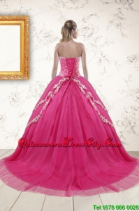 2021 Sweetheart Rose Pink Quinceanera Dresses with Sequins and Appliques