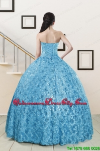 2021 Beautiful Sweetheart Ball Gown Quinceanera Dress in Baby Blue