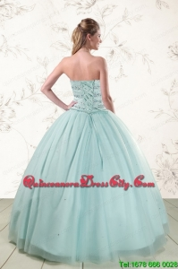 2021 Exclusive Light Blue Quinceanera Dresses with Beading