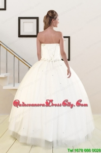 2021 Sweetheart White Elegant Quinceanera Dresses with Beading