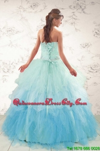 Fashionable Multi Color 2015 Quinceanera Dresses with Beading and Ruffles