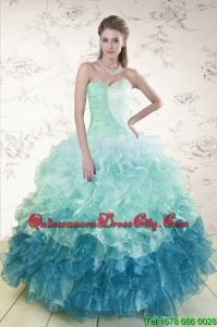 2021 Prefect Multi Color Quinceanera Dresses with Beading and Ruffles