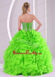 2021 Spring Puffy Sweetheart Beading Quinceanera Dress with Full Length