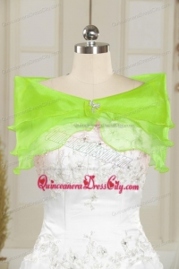 New Arrival Beading and Ruffles Quince Dresses in Green