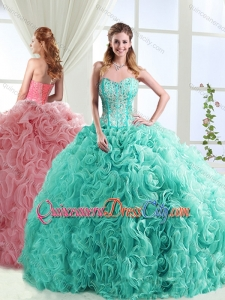 Visible Boning Beaded and Applique Detachable Quinceanera Skirt in Rolling Flowers