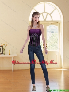 2021 New Style Multi Color Strapless Corset with Beading