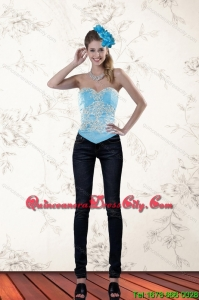 The Most Popular Ruffled Baby Blue Sweetheart Corset for 2022