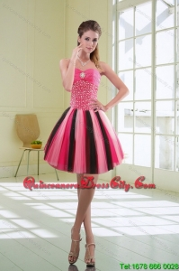 New Style Multi Color Beading Sweetheart Dama Dresses for 2022