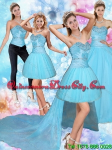 2021 Spring Sweetheart Baby Blue Quinceanera Dress with Beading