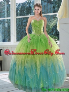 2021 Detachable Appliques and Ruffles Quince Dresses in Multi Color