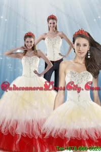 2021 Detachable and Fashionable Multi Color Quinceanera Dresses with Beading