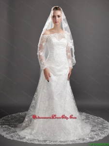 Perfect Lace Appliques Tulle Graceful Wedding Veil
