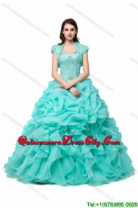 Beautiful Puffy Sweetheart Organza Quinceanera Dress with Beading