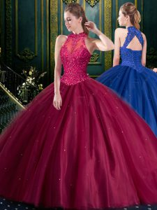 Custom Made Sleeveless Appliques Lace Up Sweet 16 Quinceanera Dress