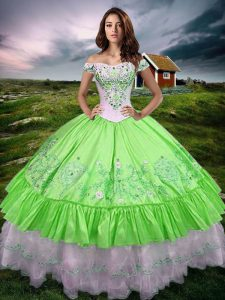 New Style Sleeveless Lace Up Floor Length Beading and Embroidery and Ruffled Layers 15 Quinceanera Dress