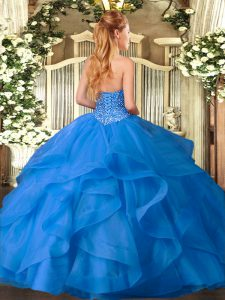 Dramatic Ball Gowns Quinceanera Gowns Hot Pink Sweetheart Tulle Sleeveless Floor Length Lace Up