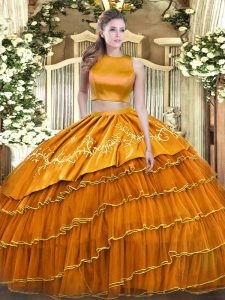 Free and Easy Sleeveless Ruffled Layers Criss Cross Quinceanera Gown