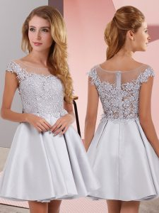 Glorious Sleeveless Lace Zipper Dama Dress
