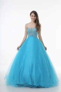 Enchanting Baby Blue Sweetheart Lace Up Beading Vestidos de Quinceanera Sleeveless