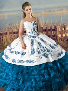 Flare Floor Length Teal Quince Ball Gowns Sweetheart Sleeveless Lace Up