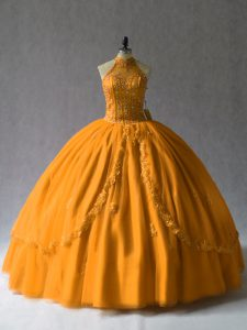 Orange Beading Quinceanera Dress