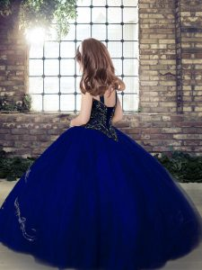 Fancy Floor Length Lace Up Pageant Gowns For Girls Yellow Green for Party and Military Ball and Wedding Party with Beading